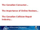 Canada: The Connected Consumer, The Collision Repair Industry and Online Reviews