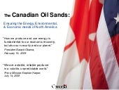 Canadian oil sands Presentation 10 ...