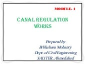 Canal regulation works. m4pptx
