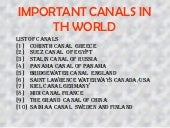Canals of the World