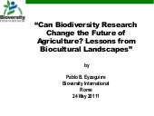 Can biodiversity research change th...