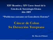 Cancer de colon. deteccion precoz
