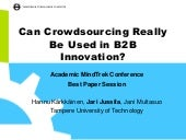 Can crowdsourcing really be used in...