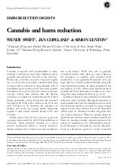 Cannabis andharmreduction