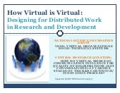How Virtual is Virtual: Designing f...