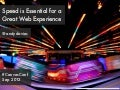 Speed is Essential for a Great Web Experience (Canvas Conf Version)