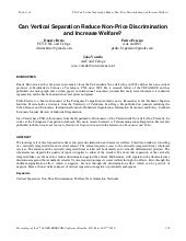 Can vertical separation reduce non ...