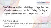 Confidence in Financial Reporting