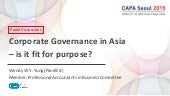 Corporate Governance in Asia  – is it fit for purpose?
