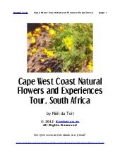 Cape West Coast Natural Flowers and...