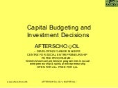 Capital Budgeting And Investment De...