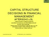 Capital Structure Decisions In Fina...