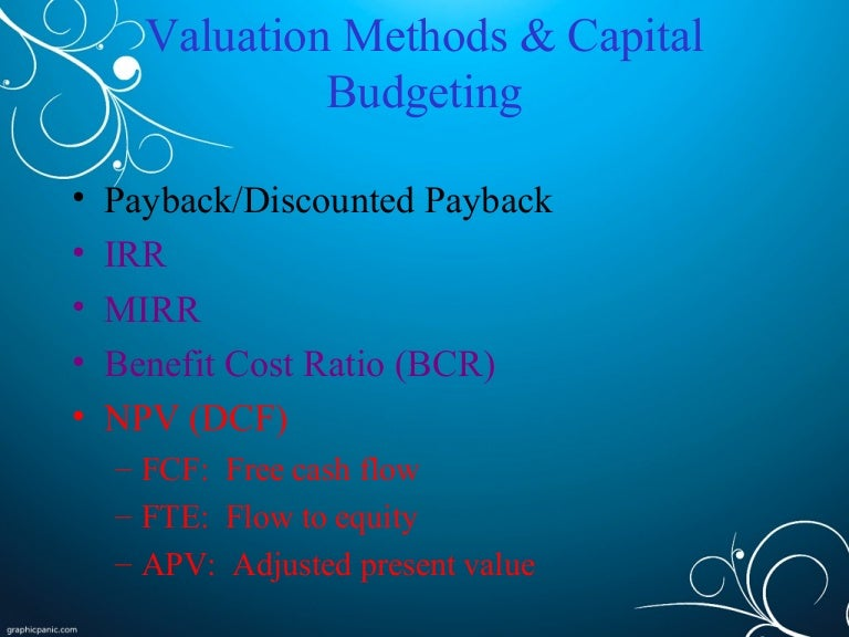 Capital budgeting solved problems