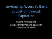 Leveraging Access to Basic Educatio...