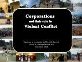 Corporations and their role in viol...