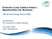 Towards a Low Carbon Future – Oppor...
