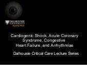 Cardiogenic Shock And Arrhythmias