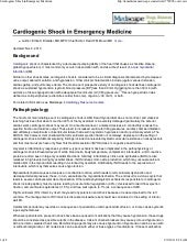 Cardiogenic shock in emergency medi...