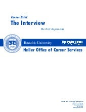 Career brief   the interview, the f...