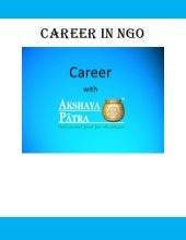 Career in NGO