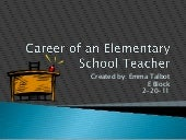 Career of elementary school teacher...