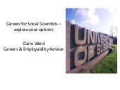 Careers for Social Scientists - Exp...