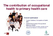 The contribution of occupational he...