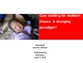 Care Seeking for Newborn Illness a ...