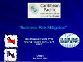 #CPAF15 WS6: Business Risk Mitigation(Basil Springer GCM, PhD,Change-Engine Consultant,Trinidad and Tobago)