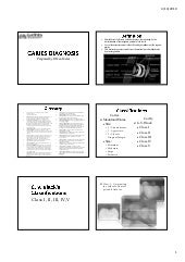 Caries diagnosis handout