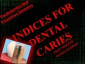 Caries indices