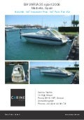BAVARIA 35 sport, 2006, £124,900 For Sale Flyer. Presented By carineyachts.com