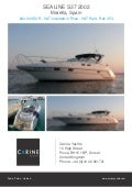 SEALINE S37, 2002, 200.000 € For Sale Flyer. Presented By carineyachts.com