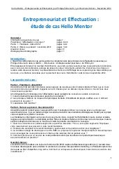 Effectuation : Hello Mentor (étude ...