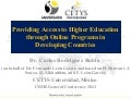 Providing access to higher education through online programs in developing countries - Carlos Rodríguez Rubio (on behalf of Fernando León García and based on H. Shirvani, J. Scorza, K. Alkhathlan, and F. León-García)