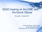 EESC hearing on the OMC and the Soc...