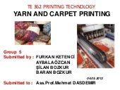 YARN AND CARPET PRINTING