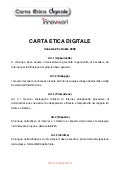 Carta Etica Digitale Italiana Innovatori (documento ufficiale)