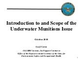 Introduction to and Scope of Underw...