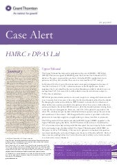 UK Case Alert:  HMRC v DPAS Ltd (Upper Tribunal)