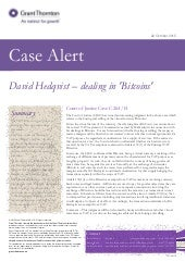 Case Alert: David Hedqvist - Dealing in Bitcoins CJEU judgment