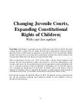 Juvenile Case Law Update - Article