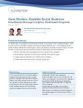 [Report] Scalable Social Business: ...