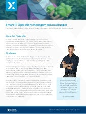 Smart IT Operations Management on a Budget