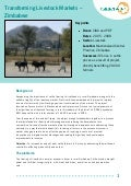 Case Study - Transforming Livestock Markets in Zimbabwe