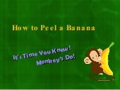 How to Open a Banana Again