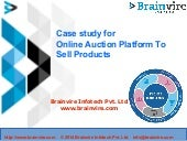 Case study for online auction platform to sell products