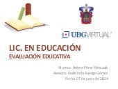 Evaluación Educativa: Caso integrador