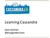 Learning Cassandra