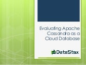 Evaluating Apache Cassandra as a Cl...
